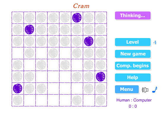 Cram game screen